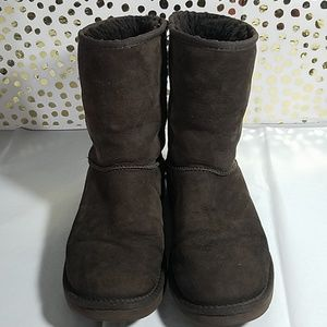 UGG Shoes - Ugg Classic Chocolate Brown Short Boots